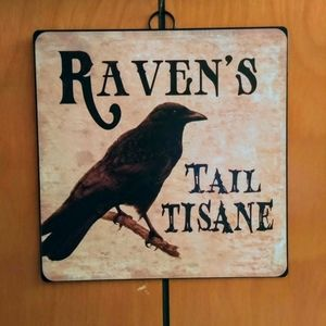 NWOT Metal Raven Potion Wall Sign